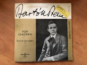 Bartók Béla - For Children / Kornél Zempléni, piano / Complete Edition / Hungaroton 2x LP Stereo, Mono / LPX 11394-95