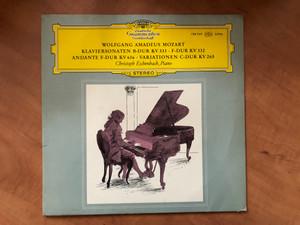 Wolfgang Amadeus Mozart - Klaviersonate B-Dur KV 333, F-Dur KV 332, Andante F-Dur KV 616, Variationen C-Dur KV 265 / Christoph Eschenbach - piano / Deutsche Grammophon LP Stereo / 138 949