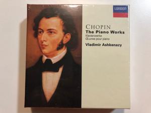 Chopin - The Piano Works = Klavierwerke = Œuvres Pour Piano / Vladimir Ashkenazy / London Records 13x Audio CD 1995 / 443 738-2
