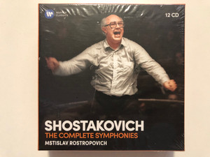 Shostakovich - The Complete Symphonies - Mstislav Rostropovich / Warner Classics 12x Audio CD 2019 Stereo / 0190295460761