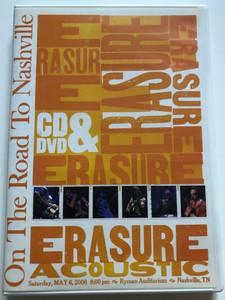 Erasure Acoustic CD&DVD 2007 On the Road to Nashville / May 6th 2006 / Ryman Auditorium / ErasDVD4 (0094638451693)