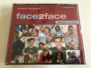Face2face Elementary Class / 3 Audio CDs / Authors: Chris Redston & Gillie Cunningham / Publisher: Cambridge University Press (9780521603386)