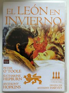 The Lion in Winter DVD 1968 El León en invierno / Directed by Anthony Harvey / Starring: Peter O'toole, Katharine Hepburnm Anthony Hopkins (8436037886041)