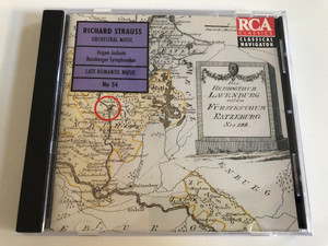 Richard Strauss - Orchestral Music / Eugen Jochum, Bamberger Symphoniker / Late Romantic Music No 54 / BMG Music Audio CD 1994 / 74321 21287 2