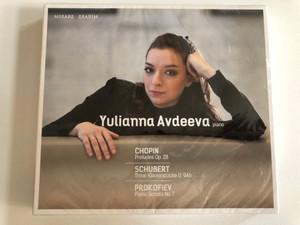 Yulianna Avdeeva (piano) - Chopin: Preludes Op. 28, Schubert: Three Klavierstucke D. 946, Prokofiev: Piano Sonata No. 7 / Mirare 2x Audio CD / MIR 252