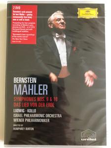 Mahler - Symphonies 9 and 10, Das Lied von der Erde / Leonard Bernstein, Christa Ludwig, Rene Kollo, Wiener Philharmoniker, Israel Philharmonic Orchestra / DVD / Made in the EU (0044007340929)