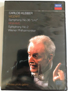 Carlos Kleiber / Johannes Brahms Symphony No. 2. + Wolfgang Amadeus Mozart Symphony No. 36 / DVD / Made in the EU (0044007016190)