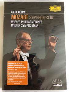"Mozart: Symphonies Vol. III - Nos. 28, 33, 39 plus ""Serenata Notturna"" and Karl Böhm documentary / DVD / Made in the EU (044007341339)"