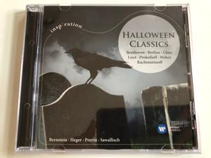 Halloween Classics - Beethoven, Berlioz, Glass, Liszt, Prokofieff, Weber, Rachmaninoff / Bernstein, Heger, Previn, Sawallisch / Warner Classics Audio CD 2013 Stereo / 5099961534025