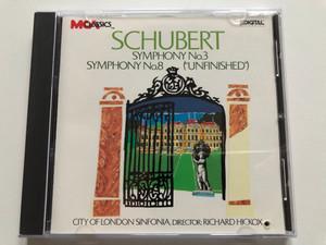 Schubert: Symphony No. 3, Symphony No. 8 (''Unfinished'') / City Of London Sinfonia, Director: Richard Hickox / MCA Classics Audio CD / MCAD-5954