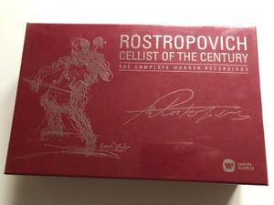 Rostropovich – Cellist Of The Century (The Complete Warner Recordings) / Warner Classics 40x Audio CD + 3 DVD CD 2017 / 0190295892302
