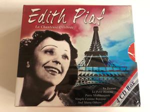 Edith Piaf – La Chanteuse Célébrée / Va Danser, Le Petit Hommm, Paris Mediterranee, Simple Comme Bonjour, And Many Others / Documents 4x Audio CD 2003 / 220278-350