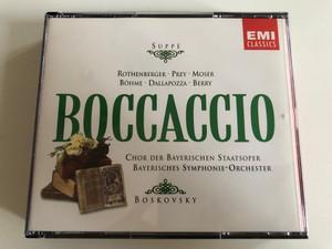 Suppé - Rothenberger, Prey, Moser, Böhme, Dallapozza, Berry - Boccaccio - Chor Der Bayerischen Staatsoper, Bayerisches Symphonie-Orchester - Boskovsky / EMI Classics 2x Audio CD 1990 Stereo / 724356617926