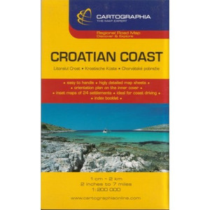 Croatian Coast Road Map by Cartographia (German, Italian and English Edition)