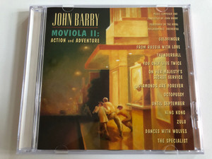 John Barry - Moviola II: Action And Adventure / Music Composed and Conducted by John Barry, Performed by The Royal Philharmonic Orchestra / Goldfinger, From Russia With Love, Thunderball / Epic Soundtrax Audio CD 1995 / 478601 2
