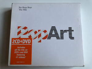 Pet Shop Boys – PopArt (The Hits) / Includes all the hits on 2CD's and DVD featuring 41 videos! / Parlophone 2x Audio CD + DVD CD 2003 / 5099950903122