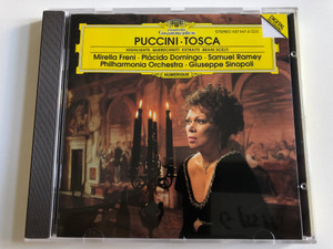 Puccini - Tosca (Highlights - Querschnitt, Extraits, Brani Scelti) / Mirella Freni, Placido Domingo, Samuel Ramey, Philharmonia Orchestra, Giuseppe Sinopoli / Deutsche Grammophon Audio CD 1992 Stereo / 437 547-2