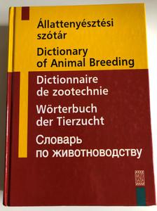Állattenyésztési szótár - Dictionary of Animal Breeding by Farkas József / English, French, German, Russian and Hungarian edition / Mezőgazda kiadó 2005 / Hardcover (9632860586)