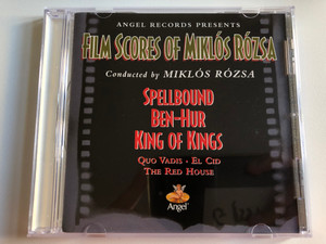 Angel Records Presents Film Scores Of Miklós Rózsa - Conducted by Miklós Rózsa / Spellbound, Ben-Hur, King Of Kings, Quo Vadis, El Cid, The Red House / Angel Records Audio CD 1996 Stereo, Mono / D 112465