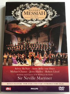 Handel - Messiah DVD 1992 The 250th Anniversary Performance Dublin / Directed bz Barrie Gavin / Conducted by Sir Neville Marriner / Artists: Sylvia McNair, Anne Sofie von Otter, Michael Chance, Jerry Hadley (044007043295)