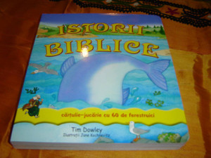 Bible Stories for Toddlers with 60 windows in ROMANIAN Language / Istorii Biblice Cartulie-jucarie cu 60 de ferestruici