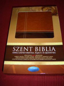 Hungarian Bible / The words of Christ in red / Luxury Leather Bound Edition, Silver edges, Protective Box
