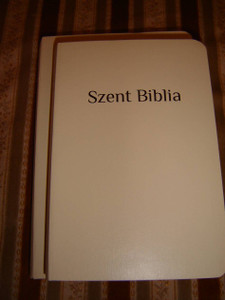 Hungarian Bible The word of Christ in RED / White Midsize Hardcover Edition
