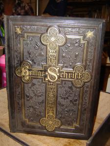 German Family Bible Illustrarted with 45 Paintings / Printed in Leipzig 1892 / Die Heilige Schrift