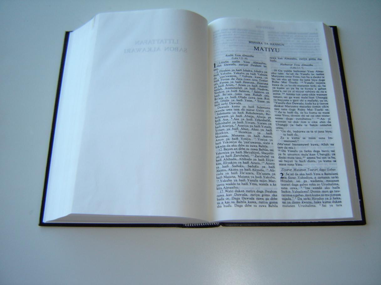 Hausa Bible / LITTAFI MAI TSARKI Duk da AFOKRIFA / The Bible in HAUSA with  Apocrypha / HAUSAV63DC