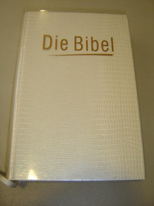 German Bible White Luxury Hardcover / Martin Luther's Translation / Printed in Germany