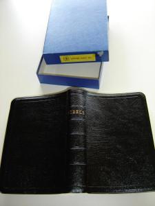 Latvian Bible R97 / BIBELE / Vecas Un Jaunas Deribas Svetie Raksti / Leather Bound with Golden edges / British Bible Society