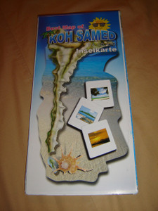 Koh Samed Island, Thailand Map / Best Map of Koh Samed the Thai Paradise Island / Inselkarte