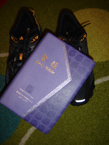 Bilingual English - Chinese Bible, Purple, Silver Edges / King James Version - Chinese Union Version (with New Punctuation)