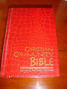Christian Community Bible RED / Catholic Pastoral Edition Claretian 52 Edition