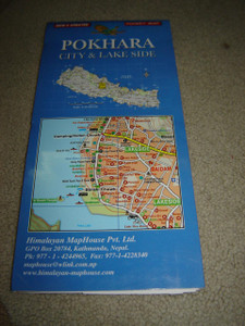 Pokhara City Map 1:17,000 / Lake Side Map 1:3,300 / Phewa Lake - David's Fall - Damside