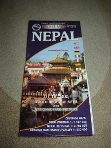 NEPAL Pocket Map Himalaya Trekking Map / 1:1,187,000 / World Heritage Sites and National Park