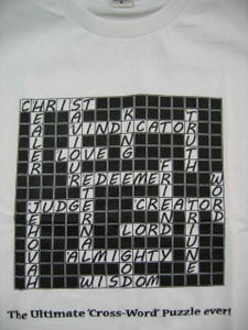 The Ultimate Cross-Word Puzzle / Christian T-Shirt designed by Nexuss