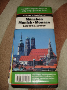 Huge Munchen City Map with Index / 1:20000 / Munich - Monaco
