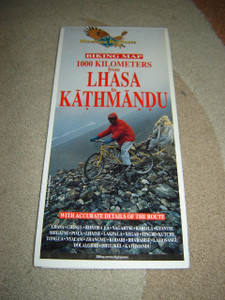 Biking Map 1000 Kilometers from LHASA to KATHMANDU / Himalayan MapHouse