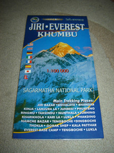 Jiri To Everest Trekking Map 1:100,000 / KHUMBU /  Sagarmatha National Park