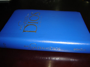 New Tagalog Version, Small Pocket Bible / Blue cover, silver edges