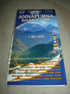 North Annapurna Base Camp / Trekking Map / 1:80,000