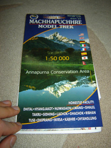 Machhapuchhre Madri Himal Trek and Model Trek / Trekking Map 1:50,000