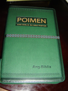 Cebuano Pastor's Bible / Study Bible for Pastors in Cebuano Language, Leather Bound, Zipper