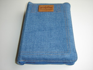 Khmer Bible in Jean Cover with Zipper and Thumb Index / Khmer Standard Version