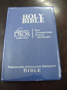 Tagalog - English New Testament BLUE Cover, Silver Edges, Flex, Slim