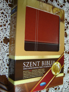 Szent Biblia - Hungarian Leather bound Bible Karoli Version / Duo -Tone - Words of Christ in Red Letter / Karoli Gaspar