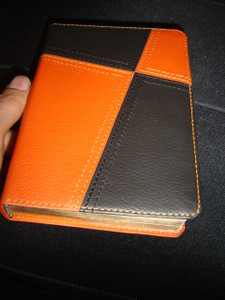Modern Tagalob Bible Cross Orange Brown Design / Ang Salita Ng Dios / ASD Tagalog Bible