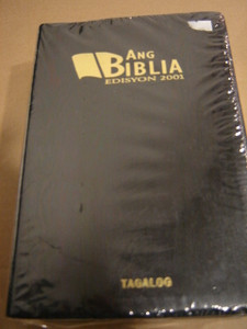 Tagalog Bible / Ang Biblia Edisyon 2001 RTAG 055GE / Black Leather-bound, Golden Edges