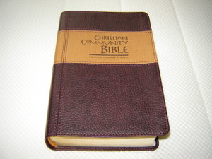 Christian Community Bible - Catholic Pastoral Edition with Study Notes / Beautiful Deluxe Leather Bound Bible